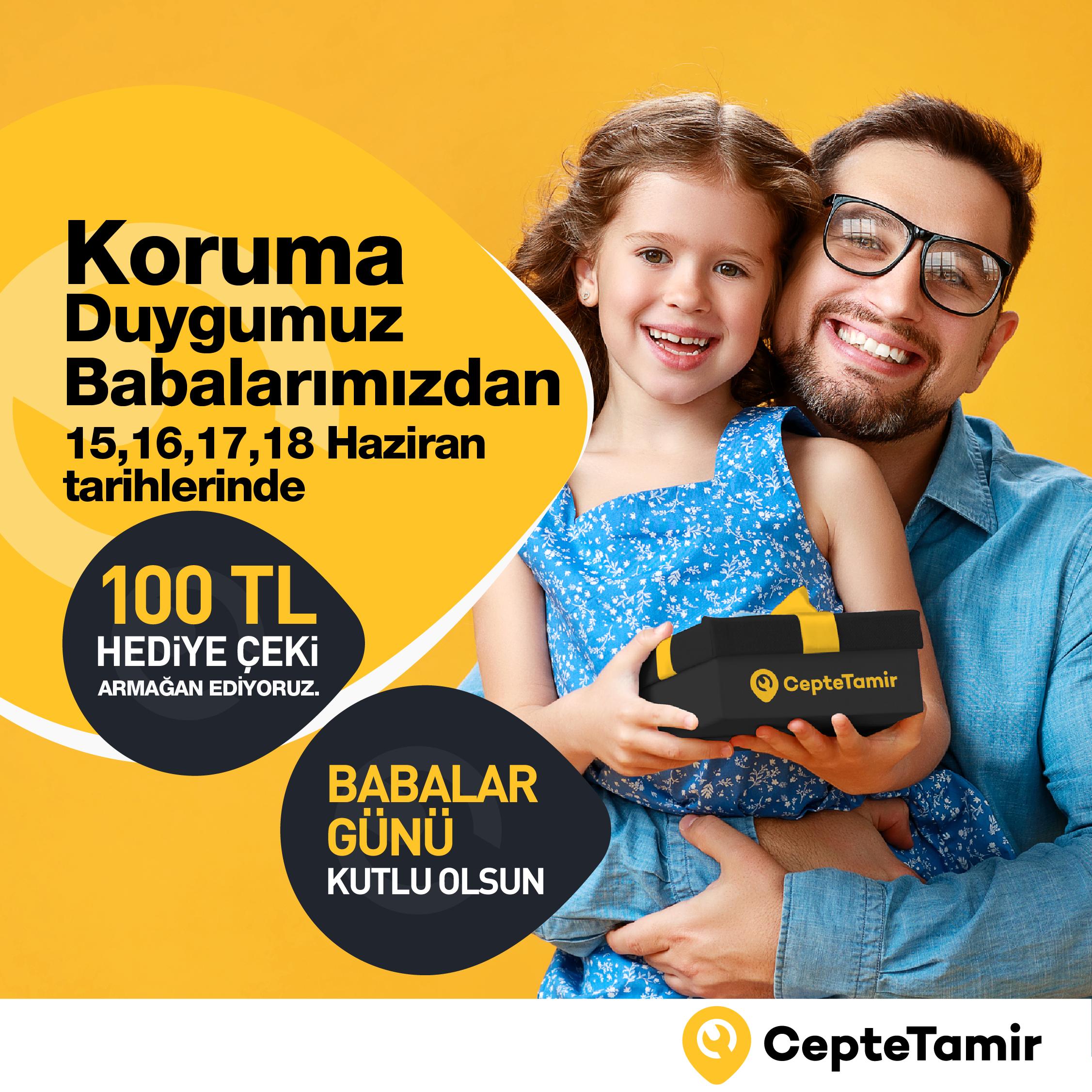 BABALAR GÜNÜ 100 TL HEDİYE ÇEKİ!